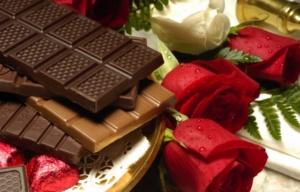 розы шоколадка подарок